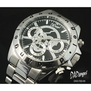 DADangel ダッドエンジェル 腕時計 スカル クロノグラフ メンズウォッチ DAD702-05 ブラック|rcmdse