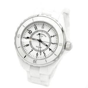 pierretalamon ピエールタラモン 腕時計 メンズ ウォッチ ジュエリーコレクション セラミック ホワイト PT-1600H-WH|rcmdse