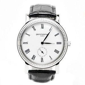 pierretalamon ピエールタラモン 腕時計 メンズ ウォッチ スモールセコンド ローマインデックス ブラックxシルバー PT-5100H-1|rcmdse