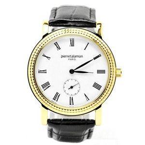 pierretalamon ピエールタラモン 腕時計 メンズ ウォッチ スモールセコンド ローマインデックス ブラックxゴールド PT-5100H-2|rcmdse