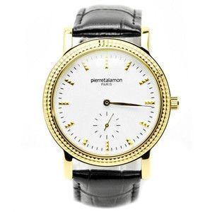 pierretalamon ピエールタラモン 腕時計 メンズ ウォッチ スモールセコンド バーインデックス ブラックxゴールド PT-5100H-4|rcmdse