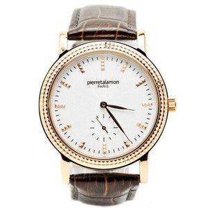 pierretalamon ピエールタラモン 腕時計 メンズ ウォッチ スモールセコンド バーインデックス ブラックxピンクゴールド PT-5100H-5|rcmdse