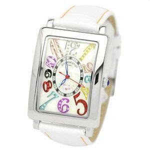 pierretalamon ピエールタラモン 腕時計 メンズウォッチ レクタンギュラー カラフルインデックス ジルコニアウォッチ セイコームーブ ホワイト PT-9000H-1|rcmdse