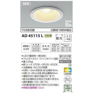 コイズミ LEDSB形ダウンライト AD45115L 設置工事不可 rcmdse