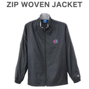 チャンピオン ウーブンジャケット ZIP WOVEN JACKET C3-LSC20 ブラック|rcmdsp