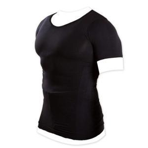 加圧インナーシャツ 加圧シャツ Uネック Vネック メンズ ブラック ホワイト マッスルプロジェクト 棚橋弘至 推薦|rcmdsp
