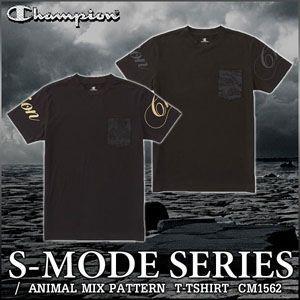 チャンピオン 半袖 Tシャツ Champion S-MODE CM1562 メンズ アニマルmix柄|rcmdsp