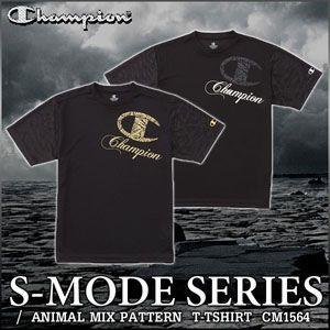 チャンピオン 半袖 Tシャツ Champion S-MODE CM1564 メンズ アニマルmix柄|rcmdsp