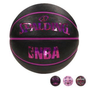 SPALDING バスケットボール 6号球 NBA公認 ラバー 野外 柄物 中学 高校 大学 女子 バスケ|rcmdsp