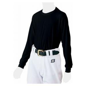 ZETT ゼット ZETT BASEBALL 少年用ライトフィットアンダーシャツ クルーネック長袖 BO8810J カラー ブラック サイズ 130cm rcmdsp