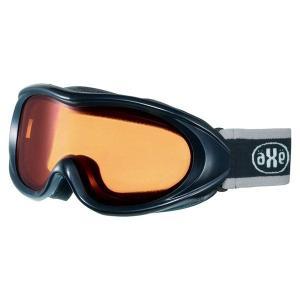 AXE(アックス) スキー ゴーグル 男性用 AX460ST BK ブラック×オレンジ|rcmdsp
