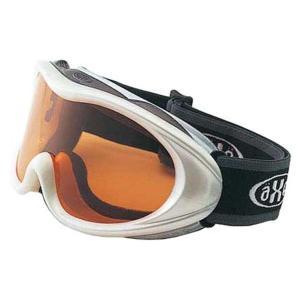 AXE(アックス) スキー ゴーグル 男性用 AX460ST WT ホワイト×オレンジ|rcmdsp