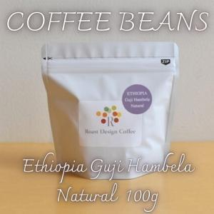 自家焙煎 コーヒー豆 エチオピア グジ ハンベラ ナチュラル 100g|rdc