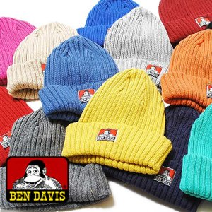 BEN DAVISコットン ニットキャップ /メンズ レディース/帽子 ワッチキャップ re-ap