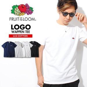 Tシャツ ブランド 半袖 ロゴワッペン メンズ 無地Tシャツ フルーツオブザルーム ワンポイント