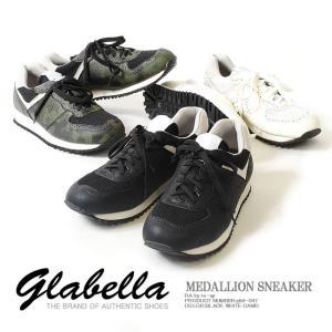 【送料無料!!】 メダリオンスニーカー PUレザー /メンズ GLABELLA グラベラ スニーカー 靴 シューズ ランニングシューズ ランシュー|re-ap
