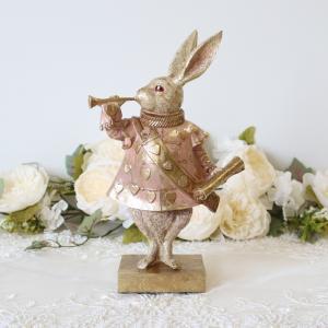 ★バロックラビット ピンク ラビット ディスプレイ ハート 不思議の国のアリス ウサギ 兎 置物 飾...