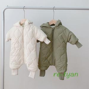 ロンパース ジャンプスーツ ベビー服 防寒着 赤ちゃん 着ぐるみ キッズ 子供用 雪遊び 男の子女の...
