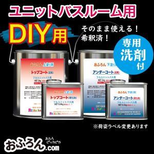 浴室リフォーム おふろん  ユニットバスルーム全体塗布用DIY 選べる10色 フッ素樹脂