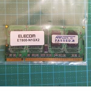 DDR2-800(PC2-6400)1GBノートPC用 re-works