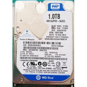 ノートパソコン WDC 中古ハードディスクHDD2.5インチ SATA 1000GB 使用2000〜3000時間 フォーマット済 交換増設用 動作確認済 re-works