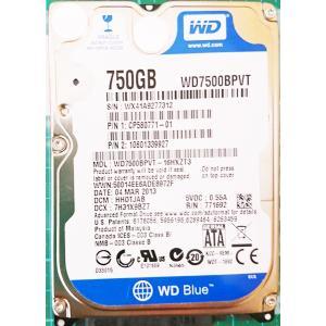 ノートパソコン WDC 中古ハードディスクHDD2.5インチ SATA 750GB 使用2000〜3000時間 フォーマット済 交換増設用 動作確認済 re-works