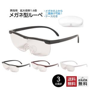 《メガネ型ルーペ》 【型番】LP-001 【材質】:プラスティック 【カラー】全3色(C1:ブラック...