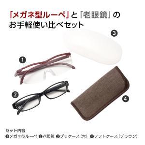 ルーペメガネ 満喫セット おしゃれ 拡大 拡大鏡 老眼鏡 女性用 メガネ型ルーペ リーディンググラス セット商品 (LS-002) ケース付き