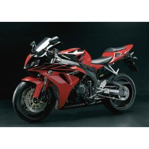 絵画風 壁紙ポスター  ホンダ CBR1000RR 2005年 スーパーバイク バイク キャラクロ 10RR-001A2 (A2版 594mm×420mm)|real-inter