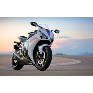 絵画風 壁紙ポスター  ホンダ CBR1000RR 2012年 スーパーバイク バイク キャラクロ 10RR-005W1 (ワイド版 921mm×576mm)|real-inter