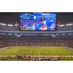 絵画風 壁紙ポスター  AT&Tスタジアム ダラス・カーボーイズ NFL アメリカンフットボール キャラクロ ADCB-001S1 (864mm×576mm) real-inter