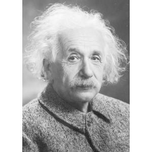 絵画風 壁紙ポスター  アルベルト・アインシュタイン 相対性理論 現代物理学の父 キャラクロ AEST-001A2 (A2版 420mm×594mm)|real-inter
