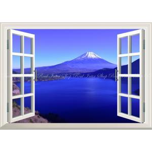 絵画風 壁紙ポスター  -窓の景色- -地球の撮り方- 千円札の裏の絶景、本栖湖の富士山 日本の絶景...