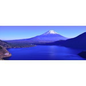 絵画風 壁紙ポスター  -地球の撮り方- 千円札の裏の絶景、本栖湖の富士山 パノラマ 絶景スポット キャラクロ C-ZJP-015P1 (パノラマ版 1440mm×576mm)|real-inter