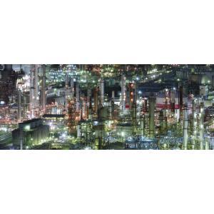 絵画風 壁紙ポスター  -地球の撮り方- 夜の宝石箱 工場萌えする四日市コンビナートの工場夜景 パノラマ 日本の絶景 C-ZJP-025P1 (パノラマ版 1440mm×576mm)|real-inter