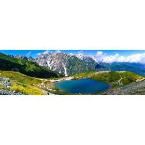 絵画風 壁紙ポスター  -地球の撮り方- 白馬三山を写す八方池の絶景と唐松岳登山 パノラマ 日本の絶景 キャラクロ C-ZJP-033L1 (パノラマL版 1843mm×576mm)|real-inter