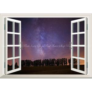 絵画風 壁紙ポスター  -窓の景色- -地球の撮り方- まるで北欧、美瑛町の風景 マイルドセブンの丘 北海道上川郡 【窓仕様】 C-ZJP-059MA2 (A2版 594mm×420mm) real-inter