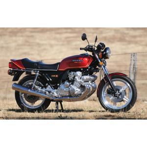 絵画風 壁紙ポスター  ホンダ CBX1000 DOHC直列6気筒 1978年 レッド バイク キャラクロ CBX1-001W1 (ワイド版 921mm×576mm)|real-inter