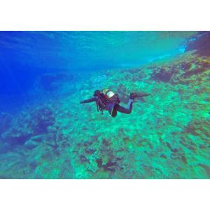絵画風 壁紙ポスター  ダイビング スキューバ ダイバー 深海 海 海底 キャラクロ DVG-001A2 (A2版 594mm×420mm) real-inter