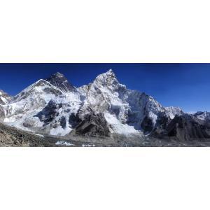 絵画風 壁紙ポスター  エベレスト ヒマラヤ山脈 チョモランマ 世界最高峰 キャラクロ EVT-102P1 (パノラマ版 1440mm×576mm)|real-inter