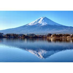 絵画風 壁紙ポスター  逆さ富士 富士山 河口湖 鏡の湖面 キャラクロ FJS-016A2 (A2版 594mm×420mm)|real-inter