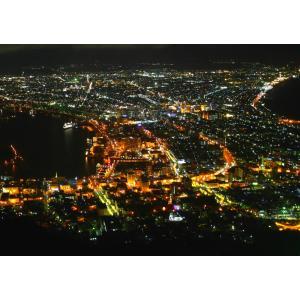 絵画風 壁紙ポスター  函館 夜景 日本三大夜景 キャラクロ HKD-004A2 (A2版 594mm×420mm)|real-inter