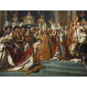 絵画風 壁紙ポスター ダヴィッド 皇帝ナポレオン1世と皇后ジョゼフィーヌの戴冠式 キャラクロ K-DVD-003S2 (594mm×450mm)|real-inter