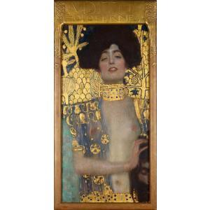 絵画風 壁紙ポスター  グスタフ・クリムト ユディト1 1901年 オーストリア美術館 キャラクロ K-KLT-001BS1 (576mm×1175mm)|real-inter