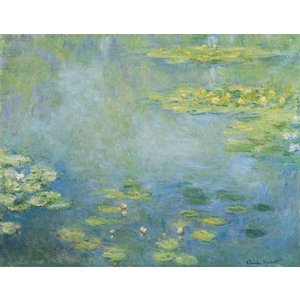 絵画風 壁紙ポスター クロード・モネ 睡蓮 1906年 Water Lilies 大原美術館 キャラクロ K-MON-013S2 (594mm×461mm)|real-inter