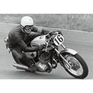 絵画風 壁紙ポスター  カワサキ 500-SS H1レーサー マッハ3 1969年 伝説のレーサー キャラクロ K5SS-010A2 (A2版 594mm×420mm)|real-inter