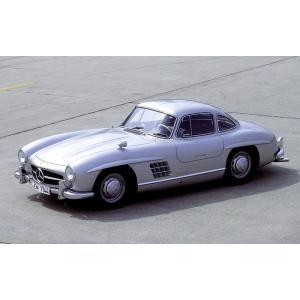 絵画風 壁紙ポスター  メルセデス ベンツ 300SL ガルウィング・クーペ 1957年 キャラクロ...