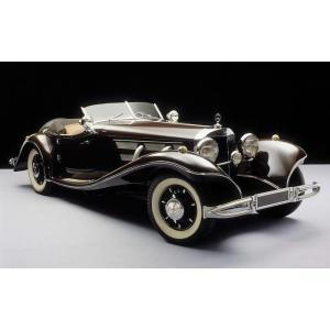 絵画風 壁紙ポスター  メルセデス ベンツ 500K ロードスター 1935年 スーパーチャージャー...