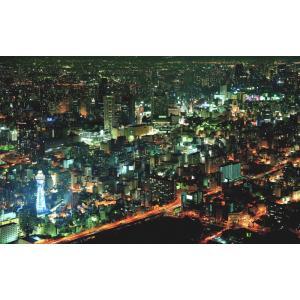 絵画風 壁紙ポスター  大阪 ミナミの夜景 大阪市 キャラクロ OSK-009W1 (ワイド版 92...