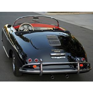 絵画風 壁紙ポスター  ポルシェ 356A 1600デラックス スピードスター US仕様 1955年 ブラック キャラクロ P356-014S2 (594mm×445mm)|real-inter